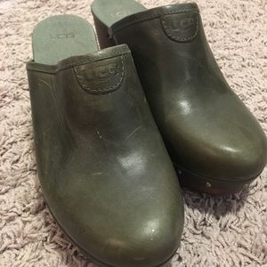 UGG green clogs